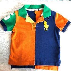 Ralph Lauren Blue Orange Polo Shirt Logo 2T?